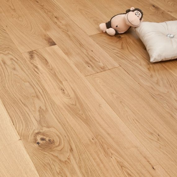 Glanwell Engineered Natural Oak Brushed and Oiled Click Lok 183mm x 15/4mm Wood Flooring (Wooden Flooring)