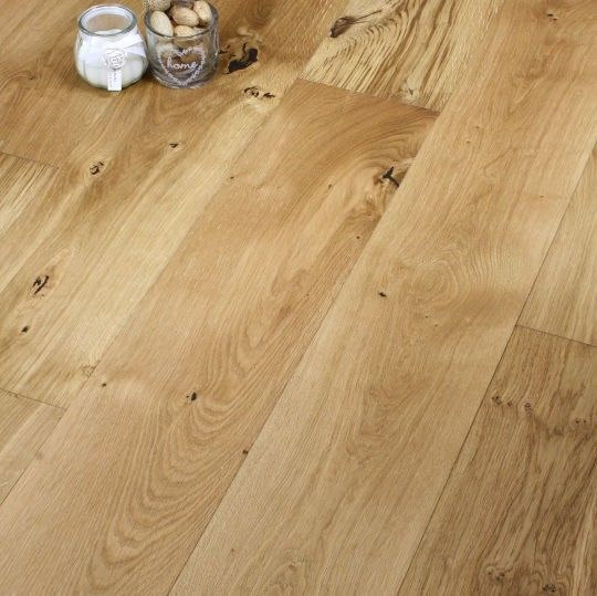 Fyfield Engineered Natural Oak Lacquered 150mm x 18/5mm Wood Flooring