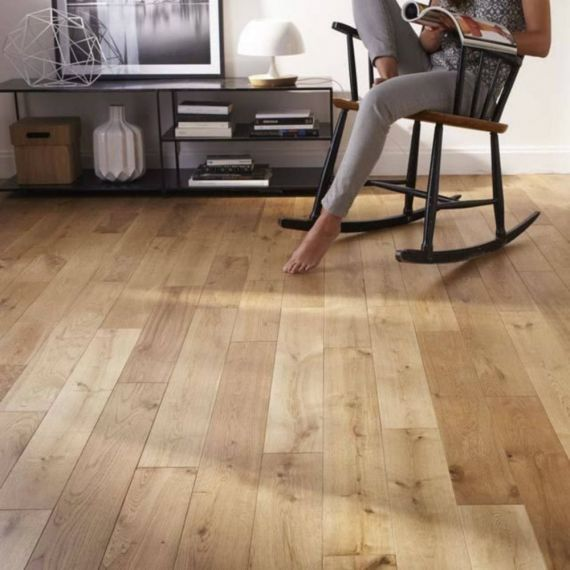 Highgate Engineered Natural Oak Brushed and Oiled Click Lok 165mm x 15/4mm Wood Flooring