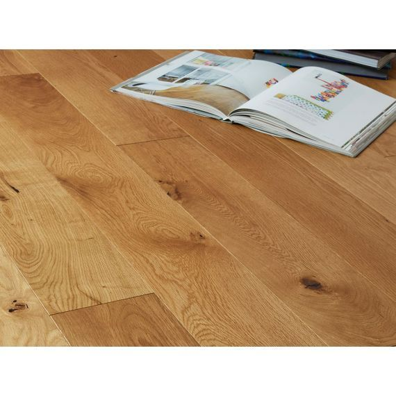 Highgate Engineered Natural Oak Oiled Click Lok 165mm x 15/4mm Wood Flooring
