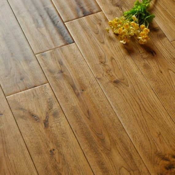 Hillingdon Elite Engineered Golden Oak Handscraped 180mm x 20/6mm Wood Flooring
