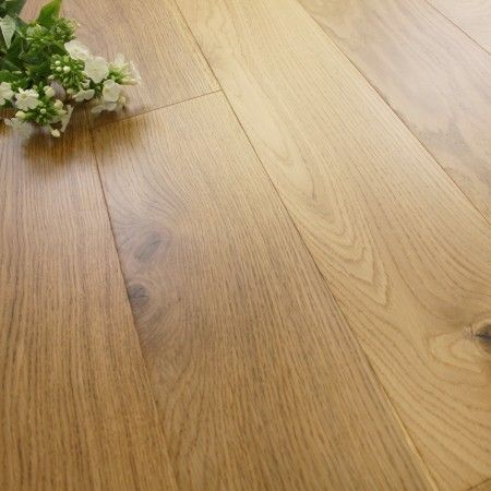 Twickenham Engineered Natural Oak Lacquered Click Lok 185mm x 14/3mm Wood Flooring