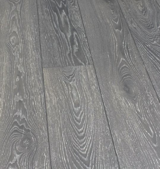 Stockholm Engineered Dark Grey Oak Brushed and Matt Lacquered Click Lok 189mm x 14/3mm Wood Flooring