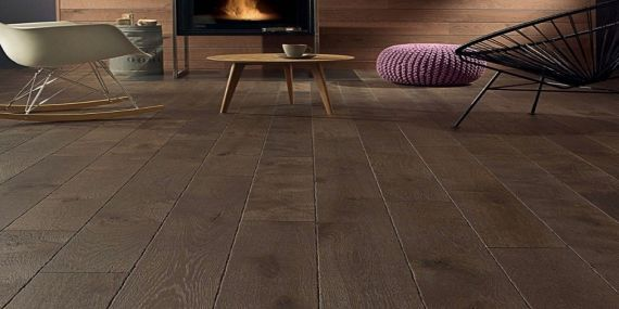 Barnworth Engineered Coffee Antique Tumbled Edge Oak Brushed & Oiled Click Lok 189mm x 14/3mm Wood Flooring (Wooden Flooring)