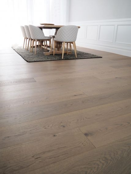 Barnworth Engineered Grey Stone Oak Brushed & Matt Lacquered Click Lok 189mm x 14/3mm Wood Flooring (Wooden Flooring)
