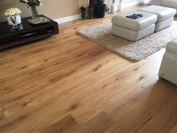 Stockholm Engineered Light Smoked Oak Distressed Brushed and Lacquered 189mm x 14/3mm Click Lok Wood Flooring (Wooden Flooring)