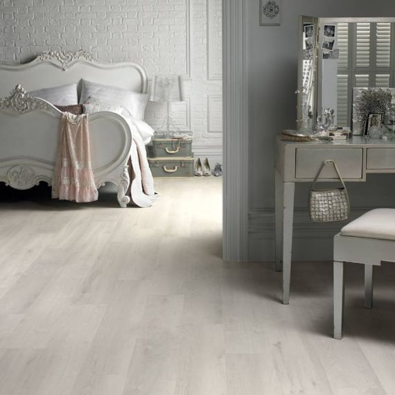 Hillingdon Engineered White Oak Brushed and Matt Lacquered Click Lok 189mm x 14/3mm Wood Flooring