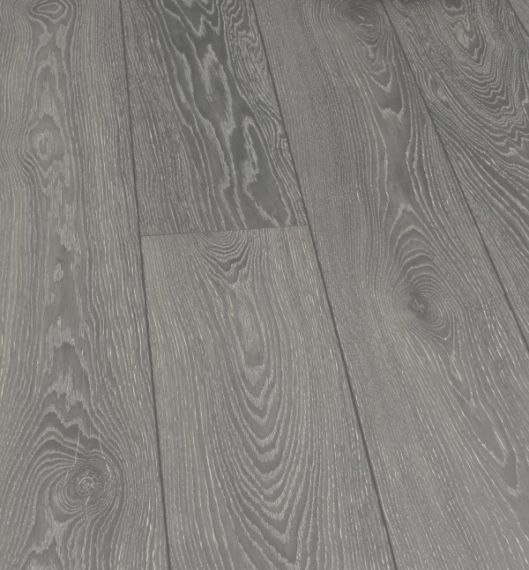Stockholm Engineered Dark Grey Oak Brushed and Matt Lacquered 189mm x 18/4mm Wood Flooring (Wooden Flooring)