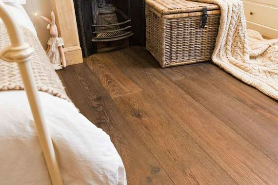 Stockholm Engineered Smoked Oak Brushed and Matt Lacquered 189mm x 18/4mm Wood Flooring (Wooden Flooring)