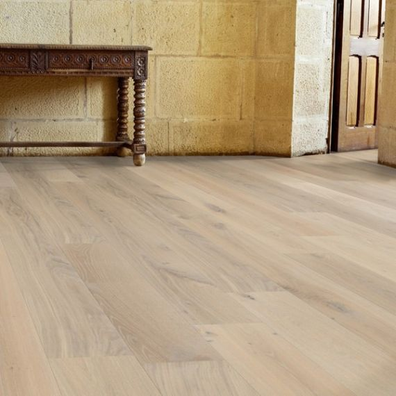 Stockholm Engineered White Oak Brushed and Matt Lacquered 189mm x 18/4mm Wood Flooring (Wooden Flooring)
