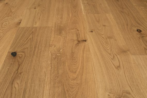 Barnworth Engineered Natural Character Oak Brushed & Matt Lacquered 190mm x 14/3mm Wood Flooring (Wooden Flooring)