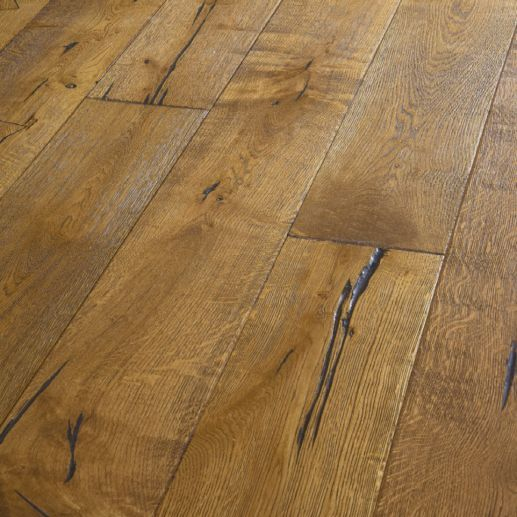 Twickenham Engineered Smoked Distressed Oak Brushed & Oiled Click Lok 190mm X 14/3mm Wood Flooring