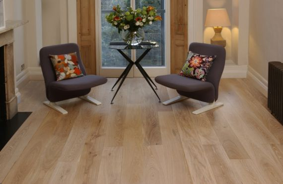 Edmonton Elite Engineered Natural Oak Brushed and Oiled Click Lok 190mm x 15/3mm Wood Flooring (Wooden Flooring)