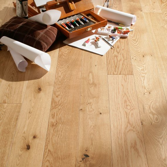 Highgate Engineered Natural Oak Brushed and Oiled Click Lok  125mm x 14/3mm Wood Flooring