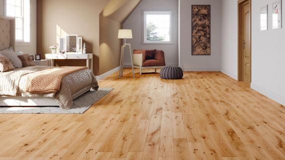 Fyfield Engineered Natural Oak Lacquered Click Lok 189mm x 15/4mm Wood Flooring