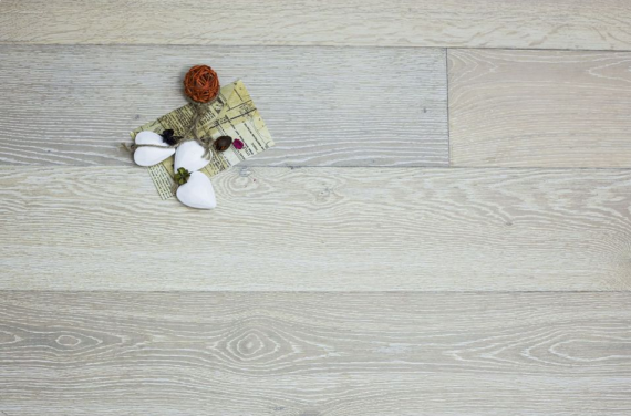 Highgate Engineered Smoked Oak Brushed and White Washed 190mm x 15/4mm Wood Flooring