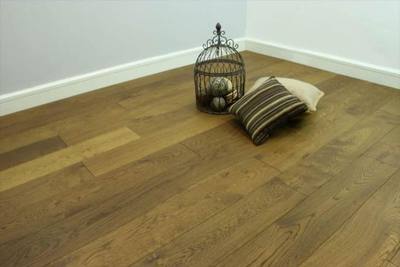 Calder Elite Engineered Smoked Oak Brushed and Lacquered 190mm x 15/4mm Wood Flooring