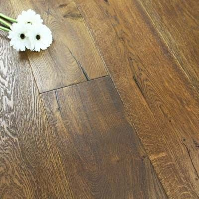 Henley Elite Engineered Smoked Distressed Oak Oiled 190mm x 20/6mm Wood Flooring