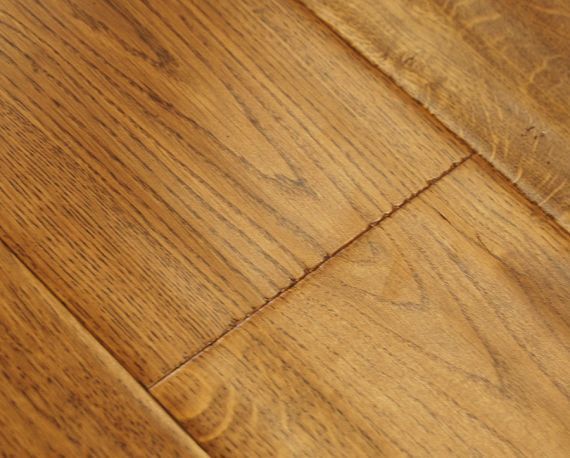 Hillingdon Elite Engineered Golden Oak Handscraped 190mm x 20/6mm Wood Flooring