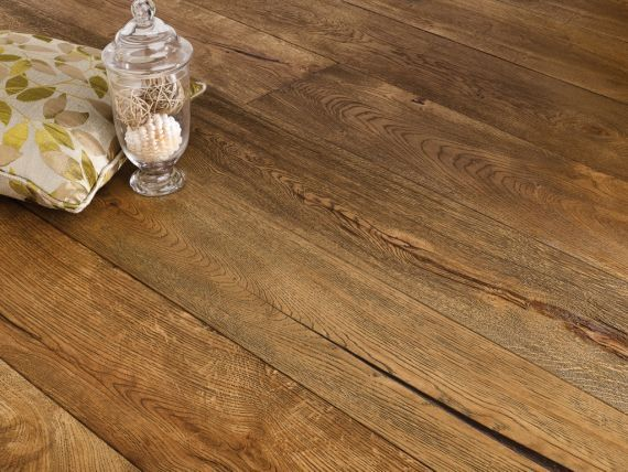 Stockholm Engineered Vintage Raisins Golden Oak Rustic Aged Brushed and Lacquered 190mm x 20/6mm Wood Flooring