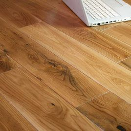 Glanwell Elite Engineered Natural Oak Lacquered 190mm x 20/6mm Wood Flooring (Wooden Flooring)