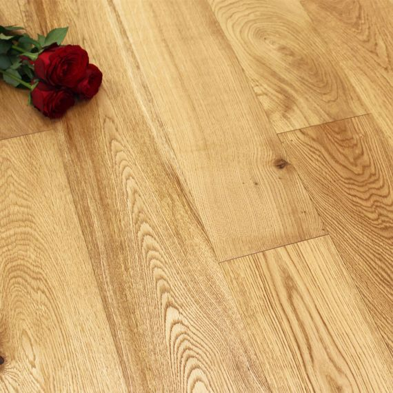 Glanwell Elite Engineered Natural Oak Oiled 190mm x 20/6mm Wood Flooring (Wooden Flooring)