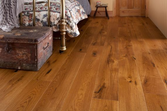 Twickenham Elite Engineered Smoked Oak Oiled Click Lok 190mm X 15/3mm Wood Flooring (Wooden Flooring)