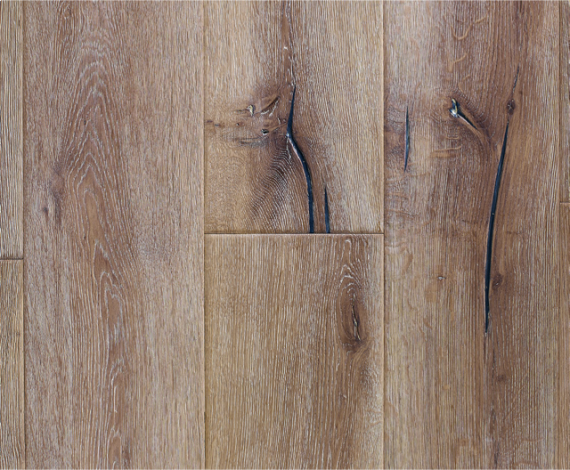 Milano Elite Engineered White Oak Distressed 220mm 15/4mm Wood Flooring (Wooden Flooring)