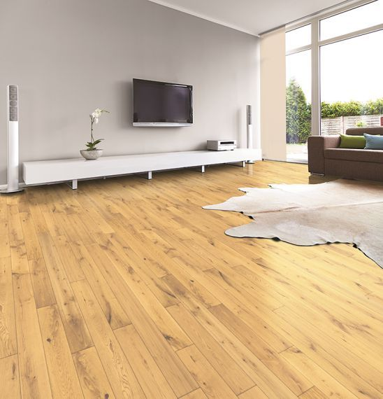Twickenham Solid Natural Oak Brushed and Lacquered 75mm x 18mm Wood Flooring