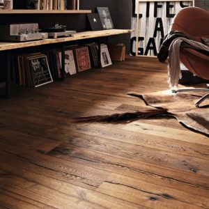 Meister PD400 Prem Cottage Longlife Steamed Oak Canyon Parquet 180mm x 13/2.5mm Wood Flooring (Wooden Flooring)