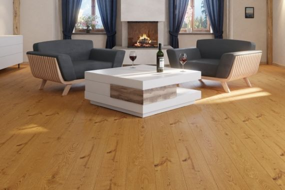 Meister PD200 Golden Brown Rustic Oak Oiled 180mm x 13/2.5mm Wood Flooring (Wooden Flooring)