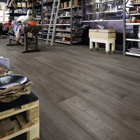 Meister HD300 Lindura Titanium Oak Brushed & Matt Lacquered 270mm x 11/0.6mm Wood Flooring (Wooden Flooring)