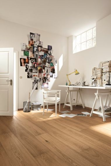 Meister HD300 Lindura Light Brown Oak Brushed & Matt Lacquered 270mm x 11/0.6mm Wood Flooring (Wooden Flooring)