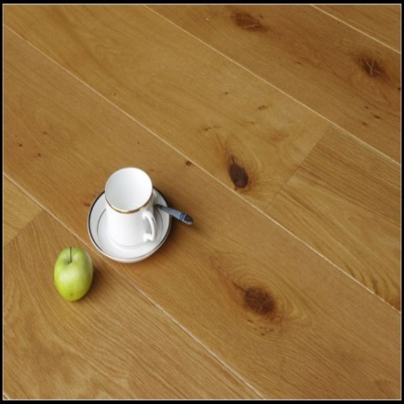 Twickenham Solid Natural Oak Lacquered 90mm X 18mm Wood Flooring (Wooden Flooring)