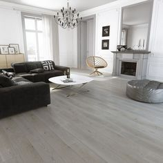 Hillingdon Engineered Plantation French Grey Oak Brushed and Lacquered 150mm x 18/4mm Wood Flooring (Wooden Flooring)