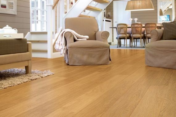 Cressington Engineered Natural Oak Brushed and Lacquered Click Lok 127mm x 10/2.5mm Wood Flooring (Wooden Flooring)