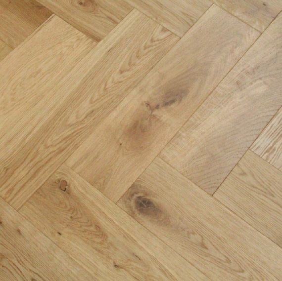 Sawbury Engineered Natural Oak Brushed and Oiled 150mm x 14/3mm Parquet Wood Flooring (Wooden Flooring)