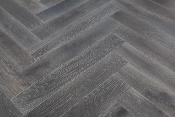 Sawbury Engineered Smoked Oak Brushed and Grey Oiled 150mm x 14/3mm Parquet Wood Flooring (Wooden Flooring)