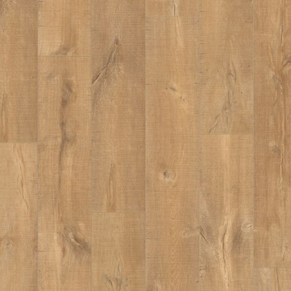Quickstep Saw Cut Oak Natural 9.5mm 2V Perspective Wide Laminate Flooring (Wooden Flooring)