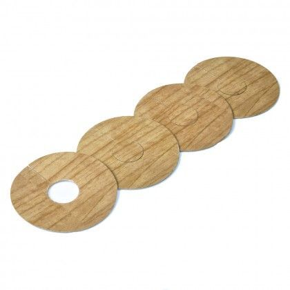 Solid Oak Pipe Covers for 15mm Radiator Pipes To Complement Natural Oak Flooring