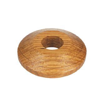 Golden Solid Oak Pipe Covers for 15mm Radiator Pipes To Complement Golden Flooring