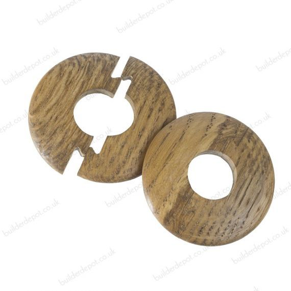 Smoked Solid Oak Pipe Covers for 15mm Radiator Pipes To Complement Smoked Solid Oak Flooring