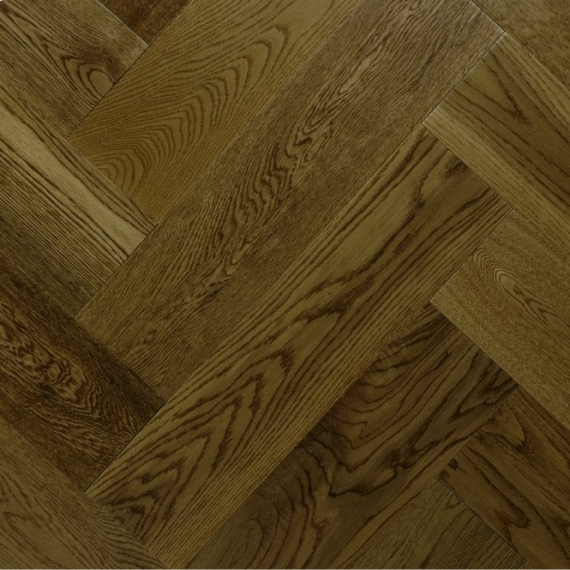 Sawbury Engineered Golden Oak Brushed and Matt Lacquered 125mm x 15/4mm Parquet Wood Flooring