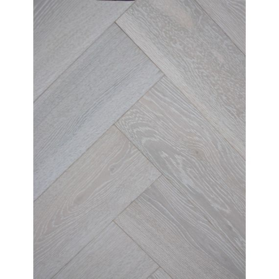 Sawbury Engineered Grey Oak Brushed and Matt Lacquered 125mm x 15/4mm Parquet Wood Flooring
