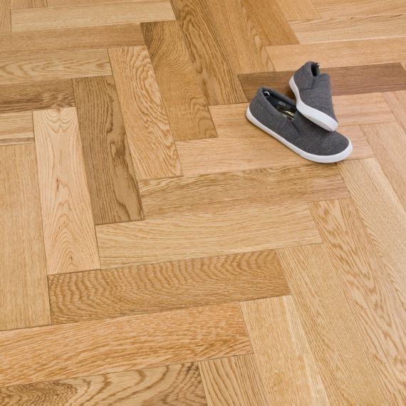 Sawbury Elite Engineered Natural Oak Oiled **PRIME** 70mm x 11/4mm Parquet Wood Flooring (Wooden Flooring)