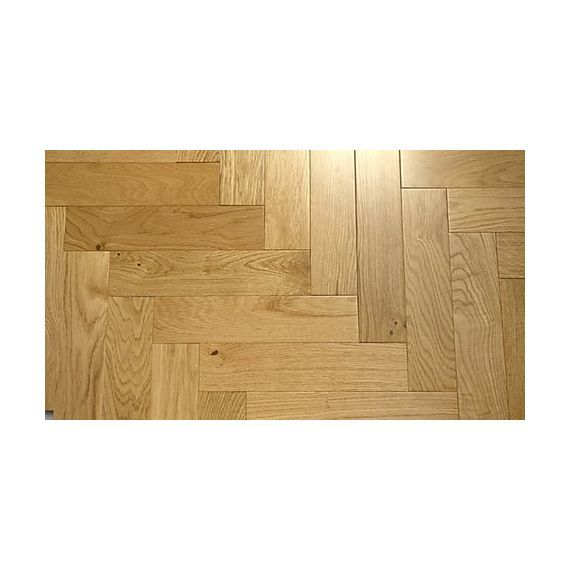 Sawbury Engineered Natural Oak Lacquered 80mm x 15/4mm Parquet Wood Flooring