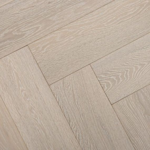 Sawbury Engineered White Oak Brushed and Matt Lacquered 80mm x 18/3mm Parquet Wood Flooring (Wooden Flooring)