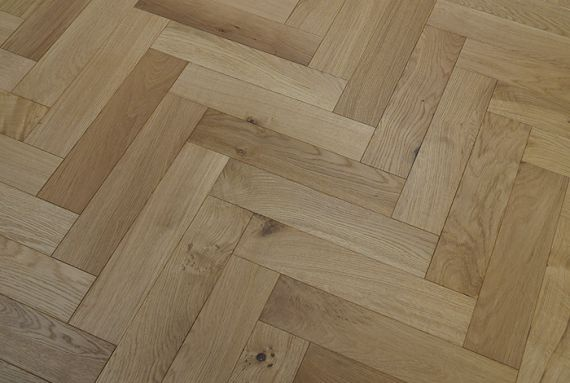 Sawbury Engineered Natural Oak Brushed and Oiled 90mm x 18/4mm Parquet Wood Flooring (Wooden Flooring)