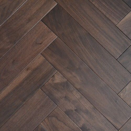 Sawbury Engineered Walnut Lacquered 90mm x 18/4mm Parquet Wood Flooring