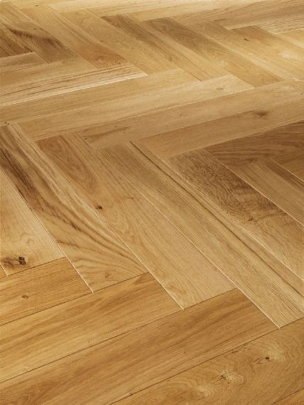 Sawbury Engineered Natural Oak Lacquered 70mm x 18/4mm Parquet Wood Flooring